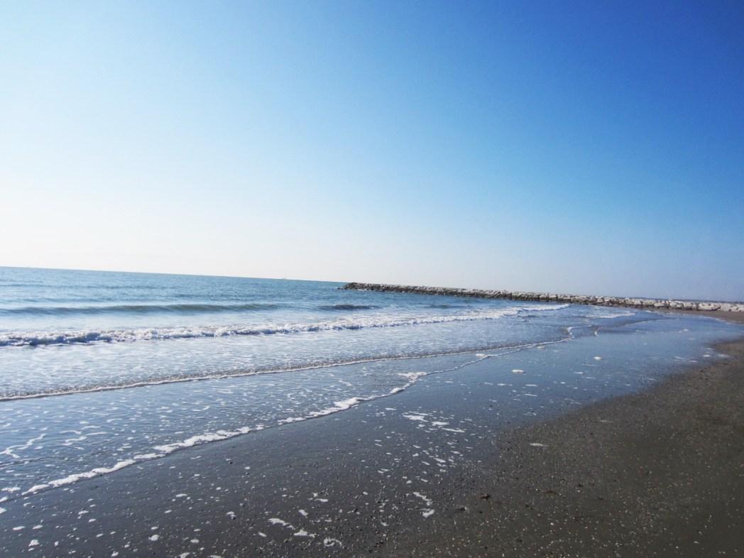 砂浜が美しいリド島のビーチ