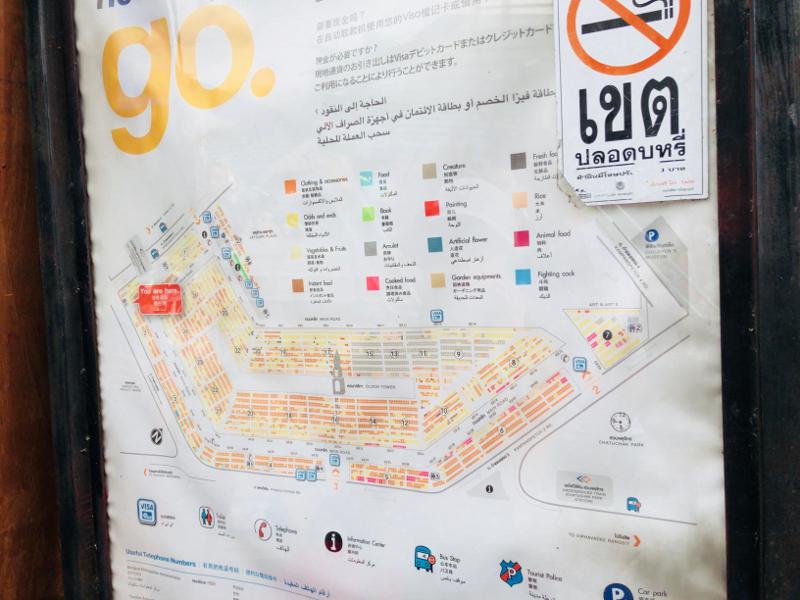 マーケット内に設置されている地図
