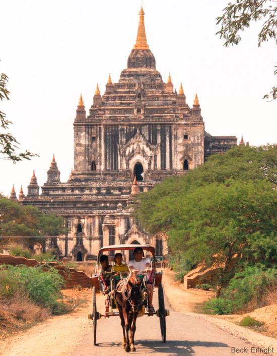人と景色、ミャンマー