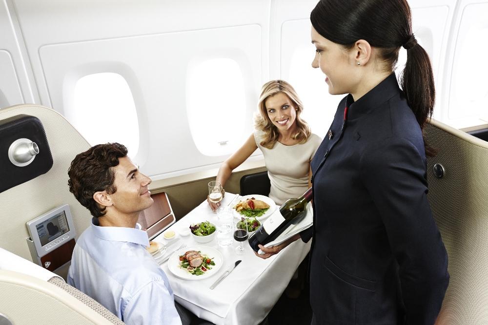 カンタス航空ファーストクラス