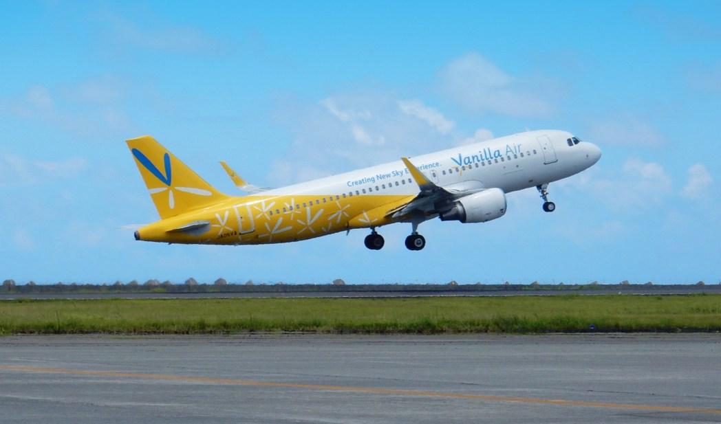 黄色い機体が目を引くバニラエア