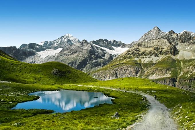 スイス、マッターホルンの眺め