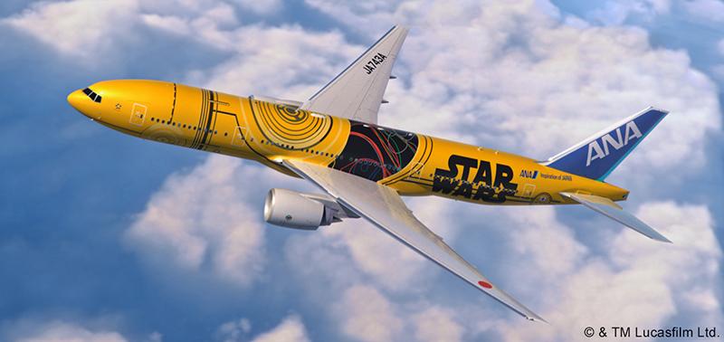 スターウォーズC-3PO模様の特別機が今夏、ANA国内線一部区間で運行