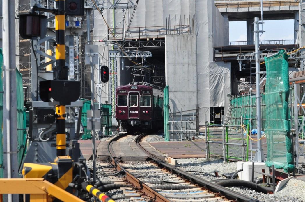 現在高架化工事中の阪急電鉄沿線