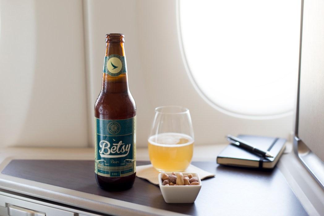 世界で初めて高度35,000フィート上空で提供を開始した瓶ビール「ベッツィービール」