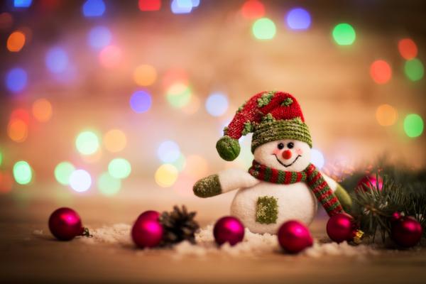雪だるま、クリスマスツリー