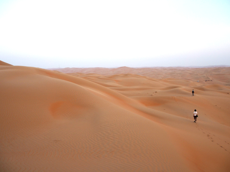"""リワ砂漠をガイドと歩くアクティビティ""""Desert Walks"""""""