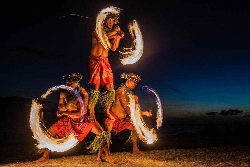 ハワイ、ファイヤーダンス