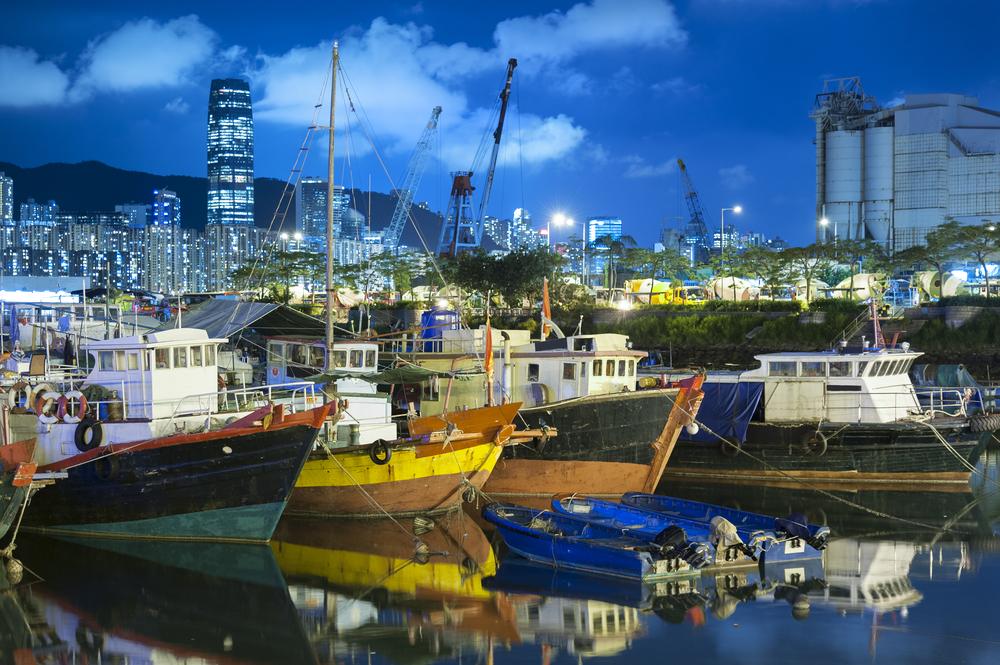 香港では魚釣りも楽しめる