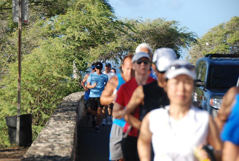 ホノルルマラソンの練習のために参加する、ホノルルマラソン準備シリーズ