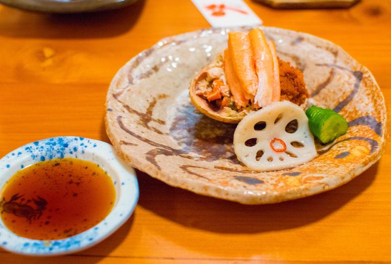 繊細な味が魅力の期間限定グルメ香箱蟹