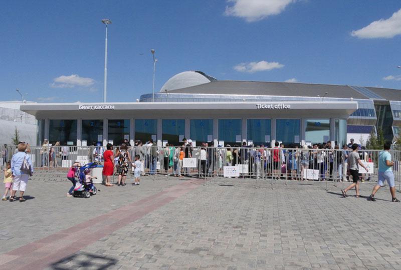 EXPO会場のチケット売り場