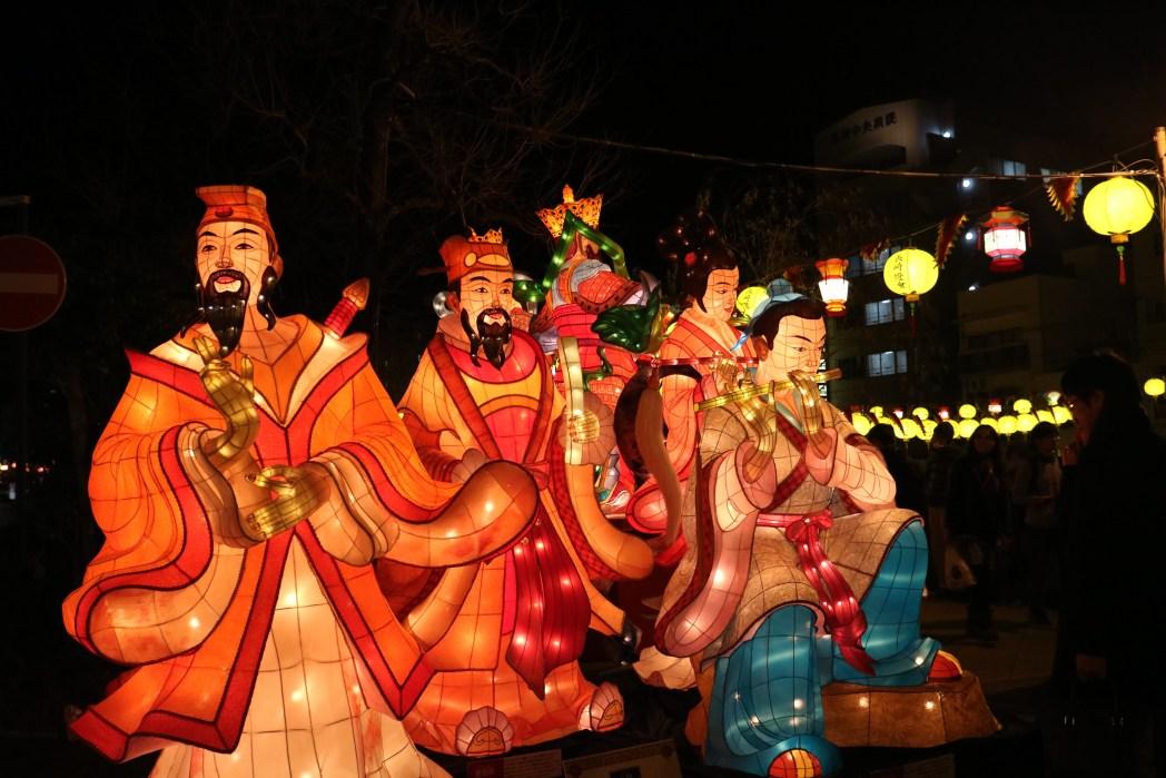 「長崎ランタンフェスティバル」の大型オブジェ
