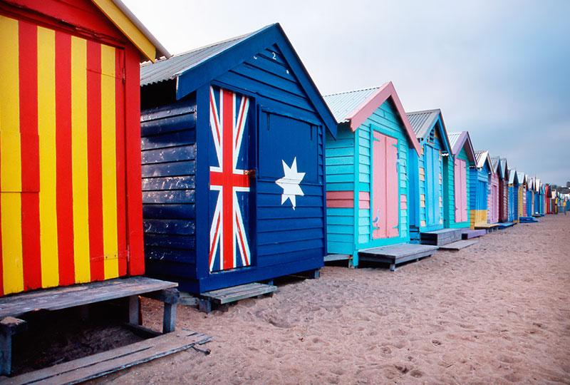 もともとは海水浴客用の更衣室として建てられたビーチ小屋 - ブライトンビーチ
