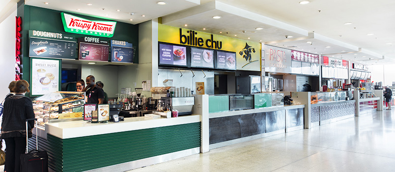 Food options at Melbourne Airport