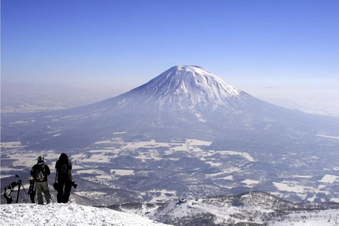 蝦夷富士と呼ばれる羊蹄山