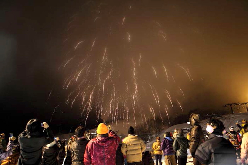 新年の打ち上げ花火
