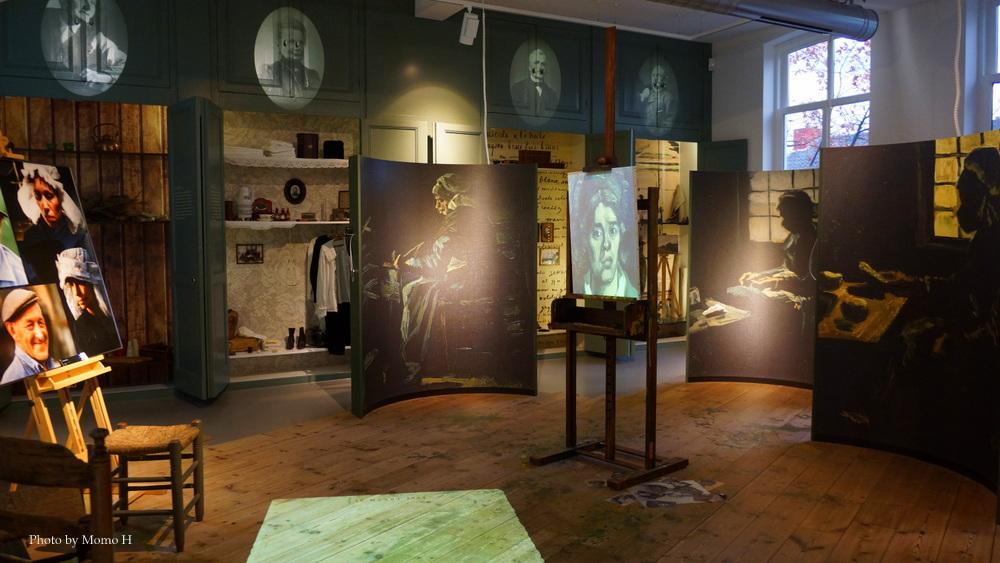 ゴッホが生きた当時の生活を再現した展示品