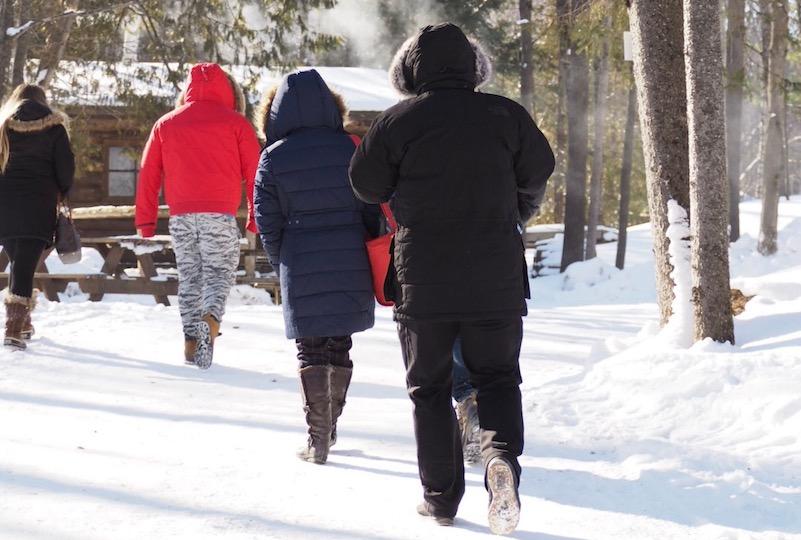 帽子と手袋は冬のケベックの必需品