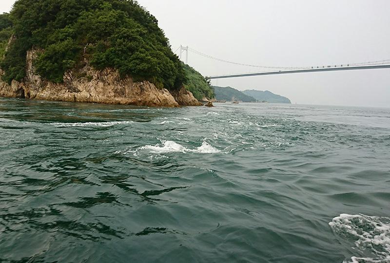 日本三大急潮のひとつ来島海峡
