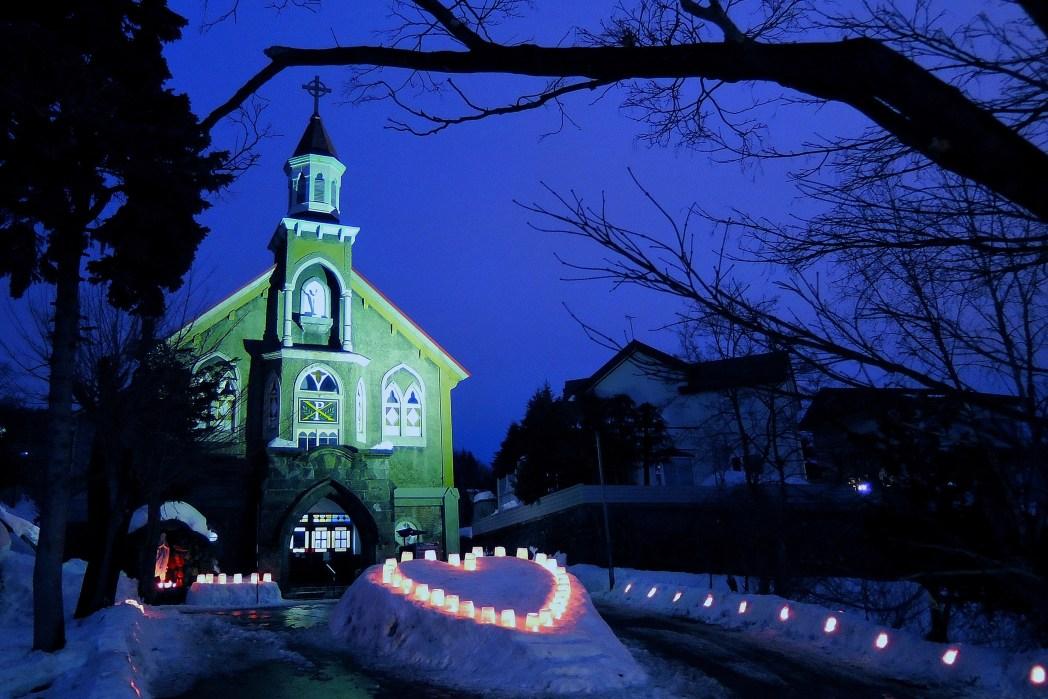毎年2月に開催される「小樽雪あかりの路」