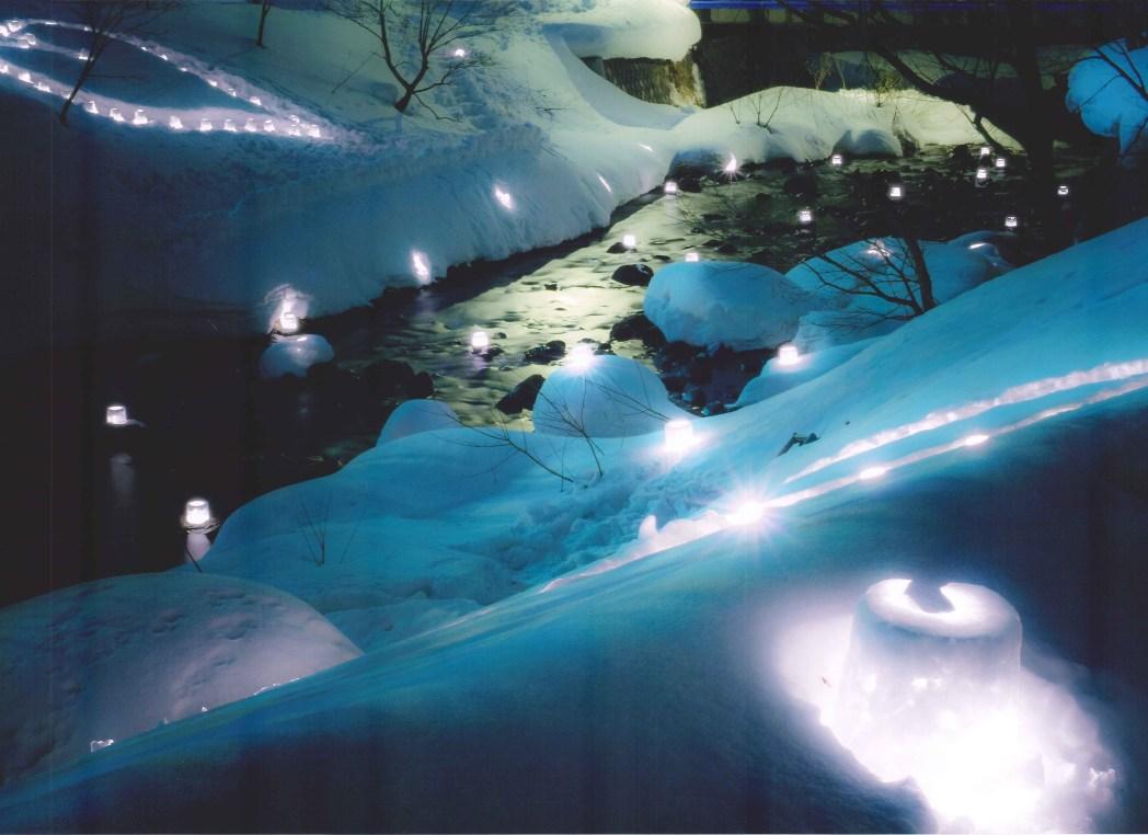 大小合わせて多くの会場が点在する「小樽雪あかりの路」