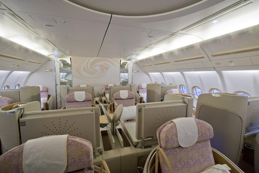 飛行機のビジネスクラス