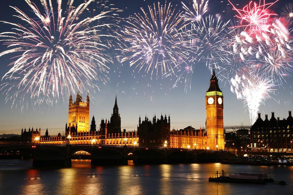 ロンドン花火、イギリス