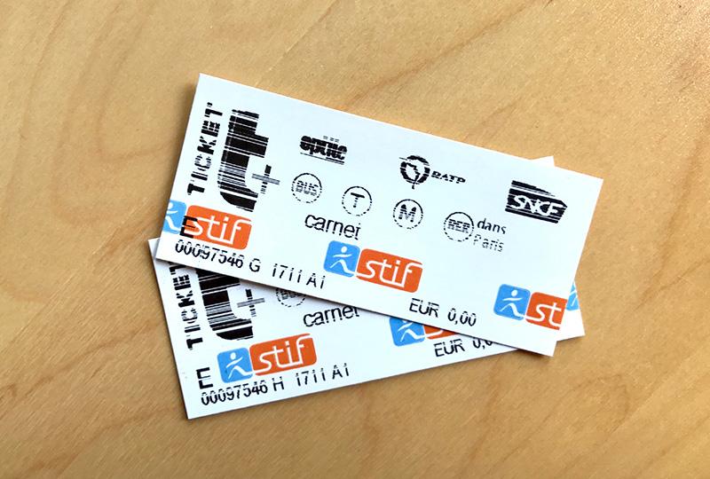 パリの地下鉄やバスなどで使える回数券「カルネ」
