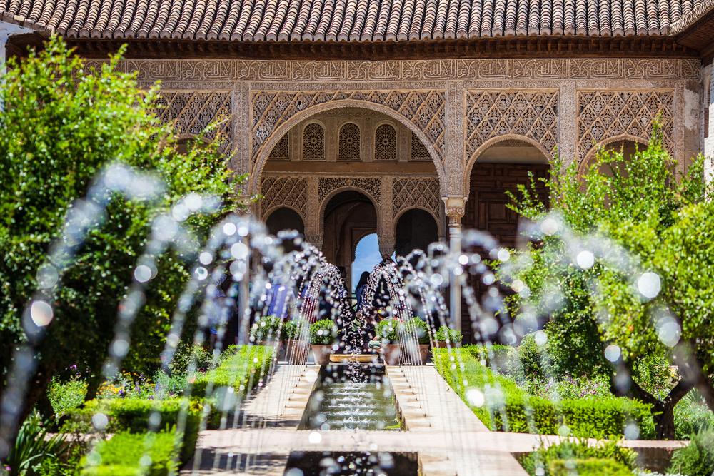 アルハンブラ宮殿内の噴水