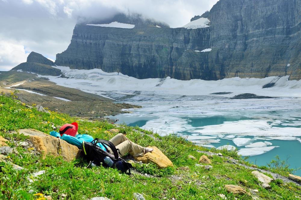グレーシャー国立公園のグリネル氷河