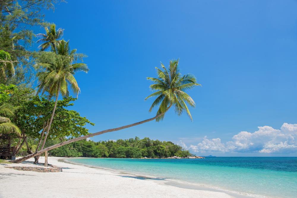 ビンタン島の白砂のビーチ