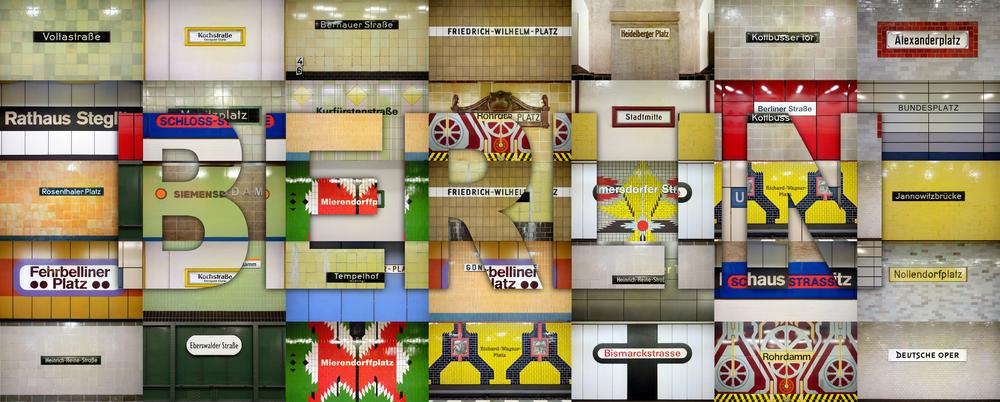 ベルリンの地下鉄の駅