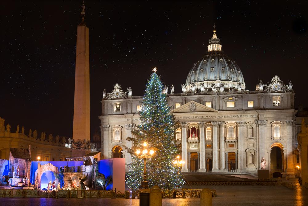 サン・ピエトロ広場のクリスマスツリー