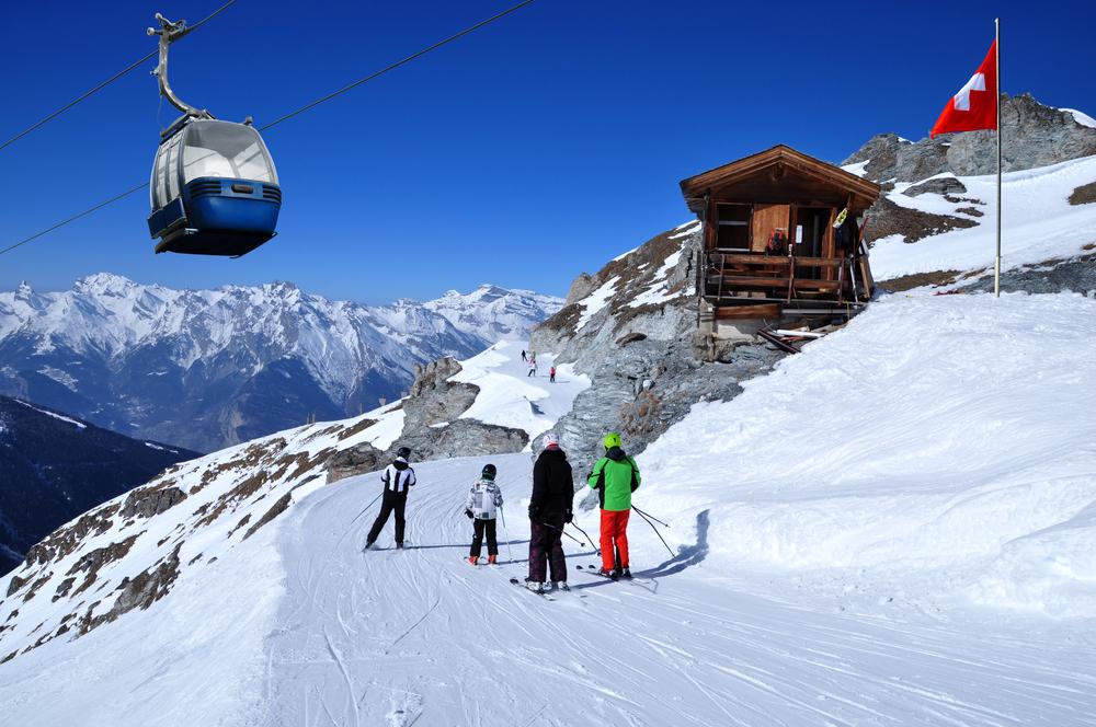 スイスのスキー場