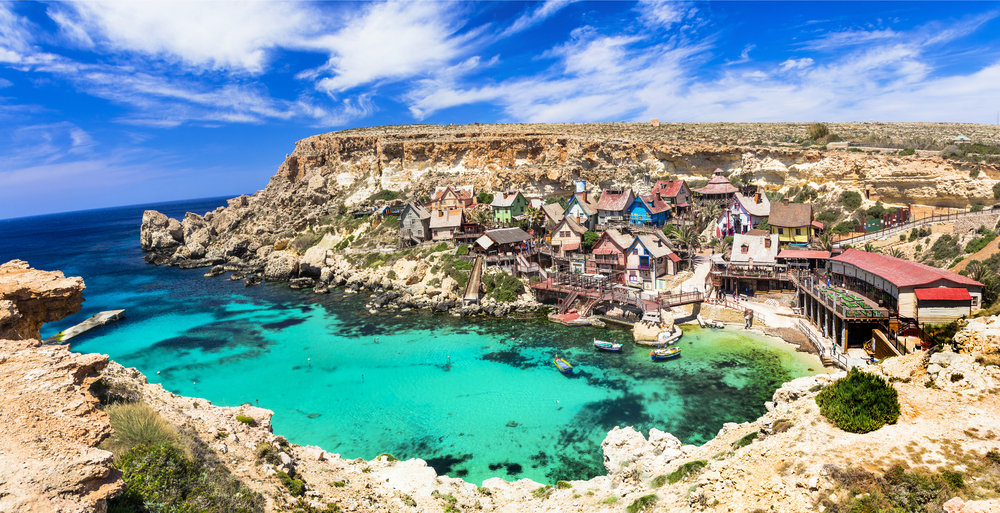 青い海のマルタ島