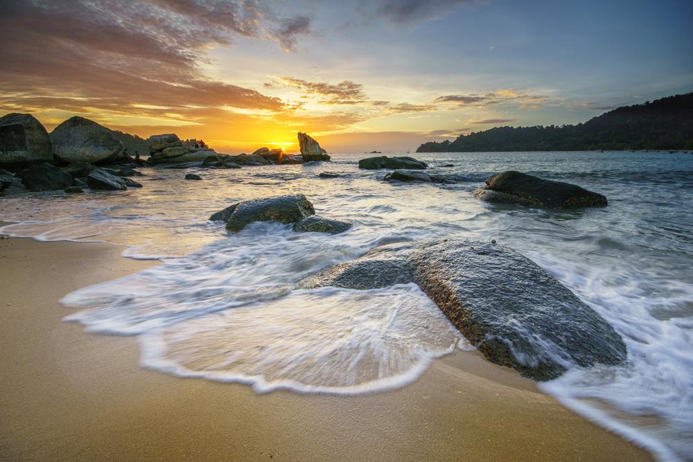 パンコール島の夕日