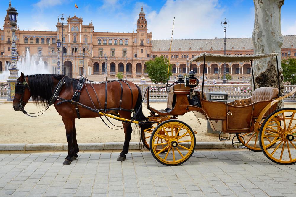 スペイン広場の馬車