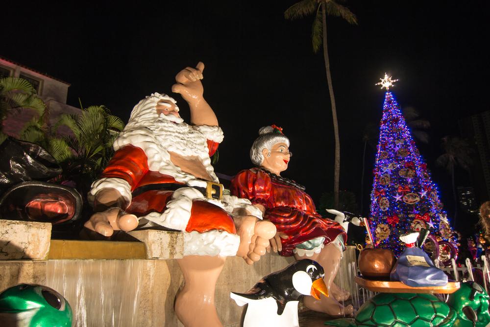 ハワイのクリスマスパレード