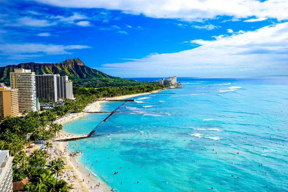 ハワイのビーチと言えばワイキキ!