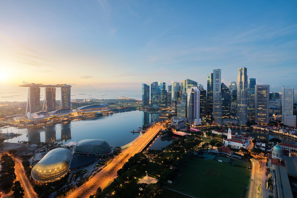 たそがれ時のシンガポール