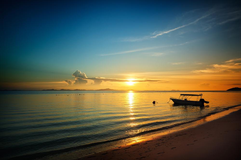 ワラ島の夕日