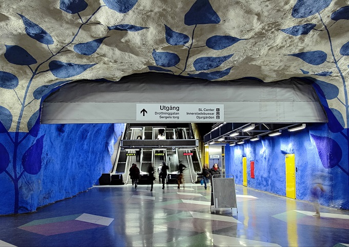 ストックホルムの地下鉄