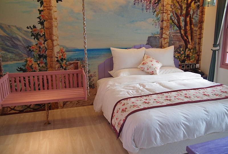 可愛らしい内装が女性に人気の「大稻埕ガーデンホテル」