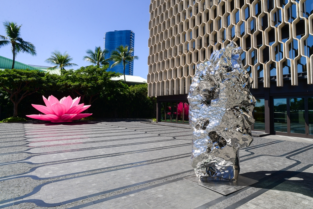 Zhan Wang and Choi Jeong Hwa installation shot at IBM Building