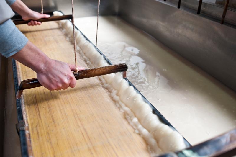 吉野の和紙を作る工房が点在